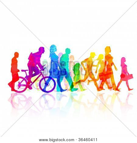 Various Modern People -  vector Illustration.