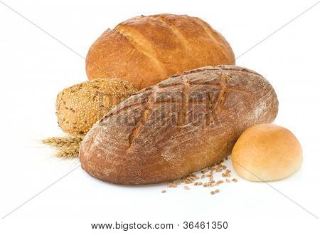 frisches Brot, isolated on white background