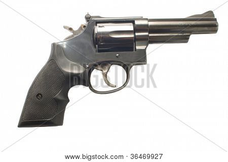 357 Magnum revolver isolated on a white background