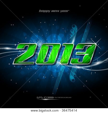 Vector banner happy new year 2013