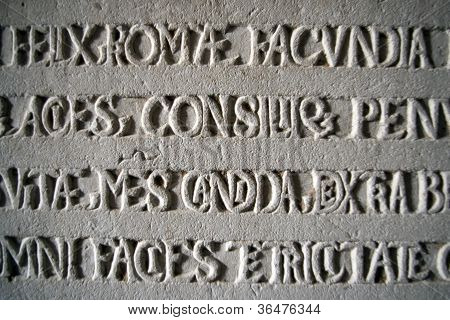 Old Stone Carved Inscription
