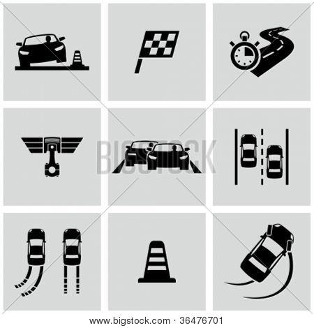 Race icons set