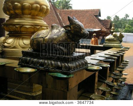 Golden Bull Statue