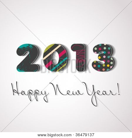 Happy new year 2013, colorful design