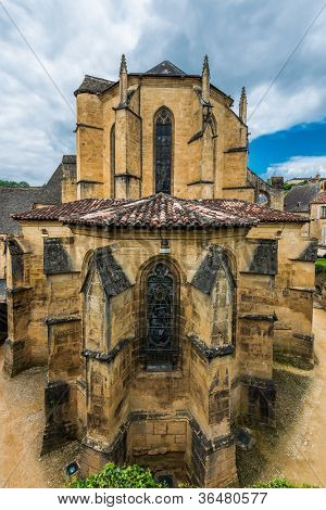 cathedral church in the beautiful city of sarlat dordogne perigord France
