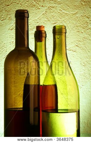 Still-Life With Three Wine Bottles