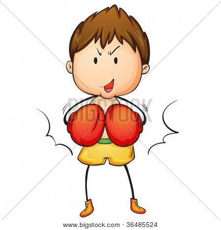 Illustration of a young boxer