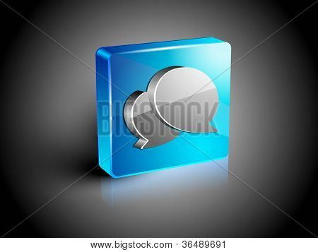 Glossy 3D web 2.0 messenger symbol icon set. EPS 10.