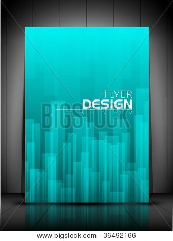 Professional business flyer template, brochure or cover design or corporate banner design for publishing, print and presentation. EPS 10.