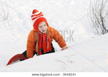 The Girl On A Snow