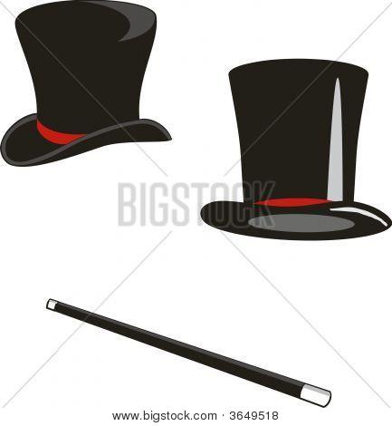 Cana e chapéus mágicos