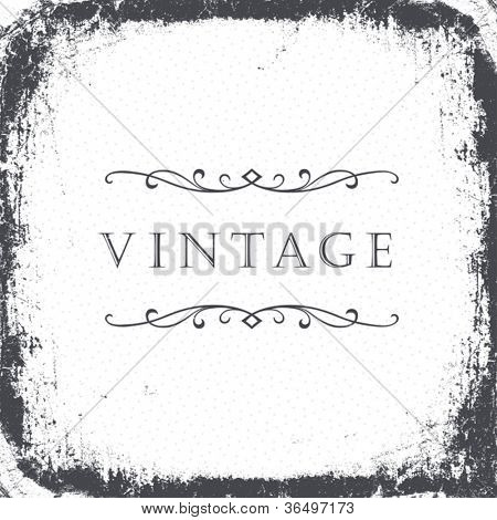 Vintage grunge frame background. Vector, EPS8