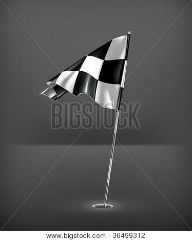 Checkered golf flag vector