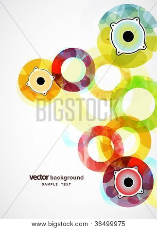 Abstract circles with speaker and place for your text.