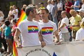 MONTREAL, QC - AUG 19, 2012: Gay and lesbians walk in the Gay Pride Parade in Montreal, QC on Aug 19
