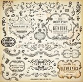 pic of flourish  - Vector set of calligraphic design elements - JPG