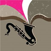 image of saxy  - Music concept with Saxophone - JPG