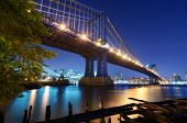 The Manhattan Bridge Spans the East River from the borough of Brooklyn to the borough of Manhattan i