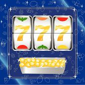 stock photo of slot-machine  - Vector illustration of a slot machine payout - JPG