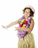 stock photo of hula dancer  - Elementary hula - JPG