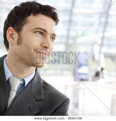 Happy Businessman Smiling