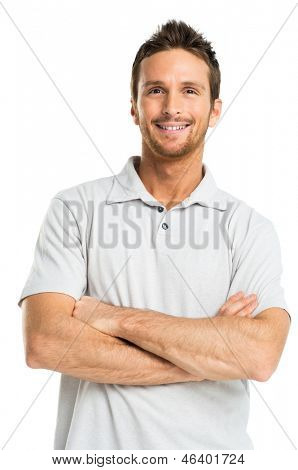 Happy Man Isolated On White Background