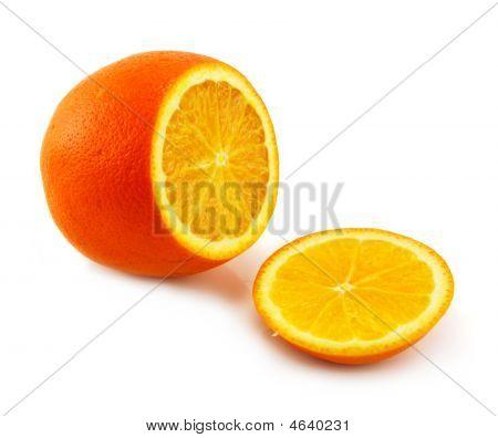 Citrus Fruits (orange) Isolated