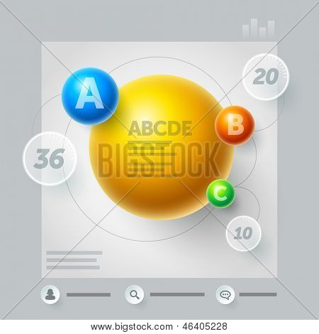 Vector abstract minimal information design template. Elements are layered separately in vector file. Easy editable.