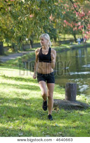 Blond Girl Running