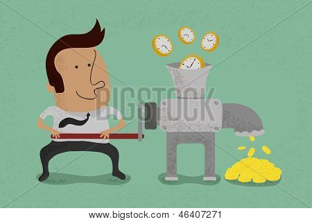 Time is equal to money , eps10 vector format