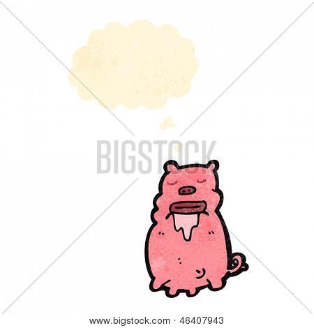 cartoon gross pig