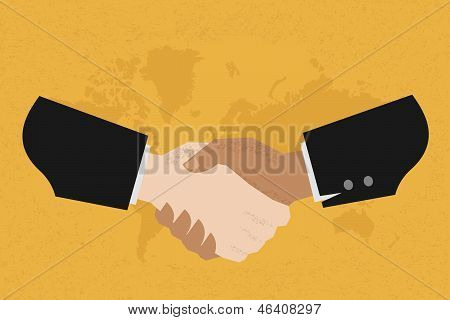 Two business man shakehand , eps10 vector format