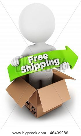 3d white people free shipping