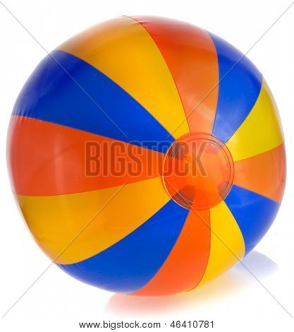 Single Colorful Inflatable PVC ball isolated on white background