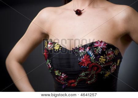 Dress With Flower Emroidery