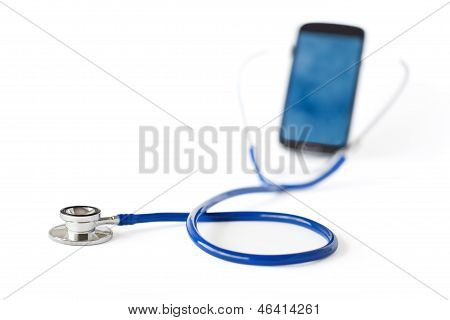 Stethoscope And Mobile Phone
