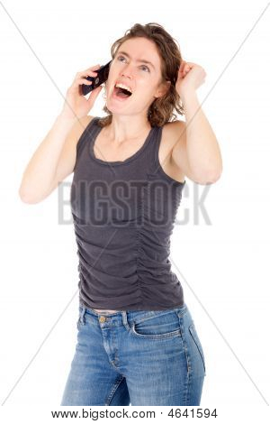 Woman Talking Cellphone