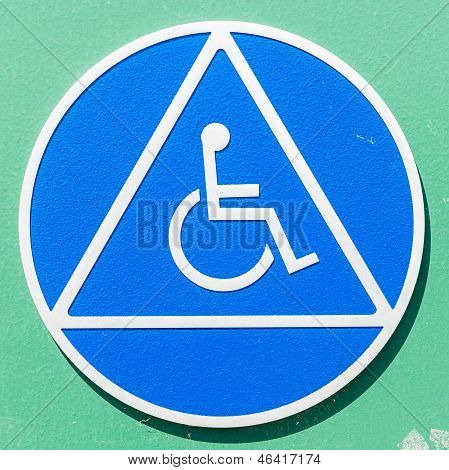 Closeup Of A Disabled Sign