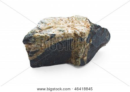 stone isolated white background rock natural granite boulder sol