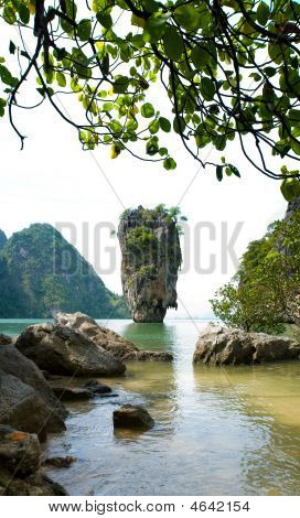 James Bond (ko Tapu) Island Panorama