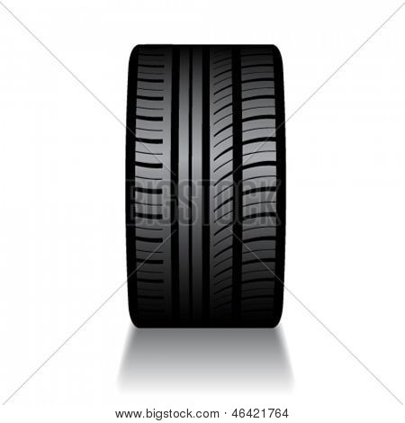 vector rubber tyre with shadow