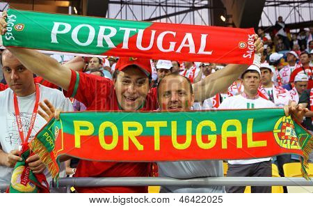 Portugal Fans Show Their Support