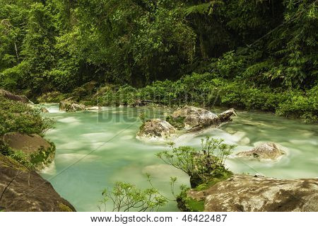 Flowing Waters Of Rio Celeste