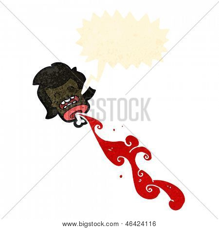 gross shrieking severed head cartoon