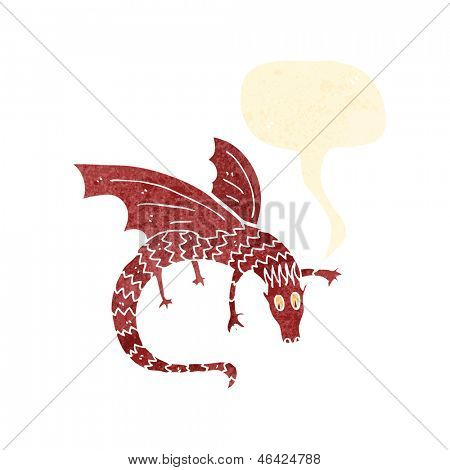 flying dragon illustration