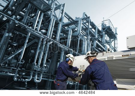Engineers Inside Oil-refinery