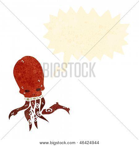cartoon gross tentacle skull