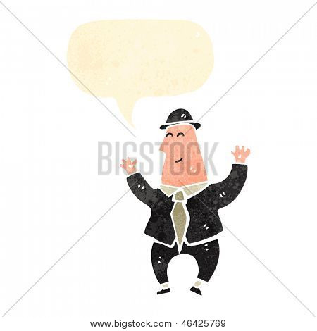 cartoon happy banker