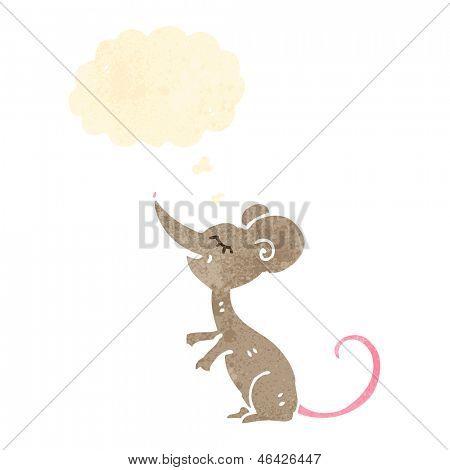 ratón de dibujos animados retro