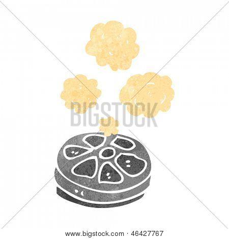 retro cartoon film canister